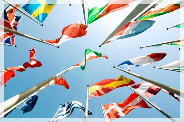 flags sky