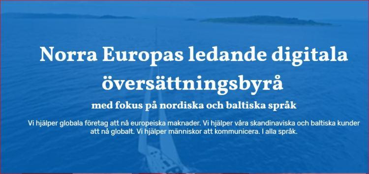 Norra Europas ledande digitala översättningsbyrå med fokus på nordiska och baltiska språk