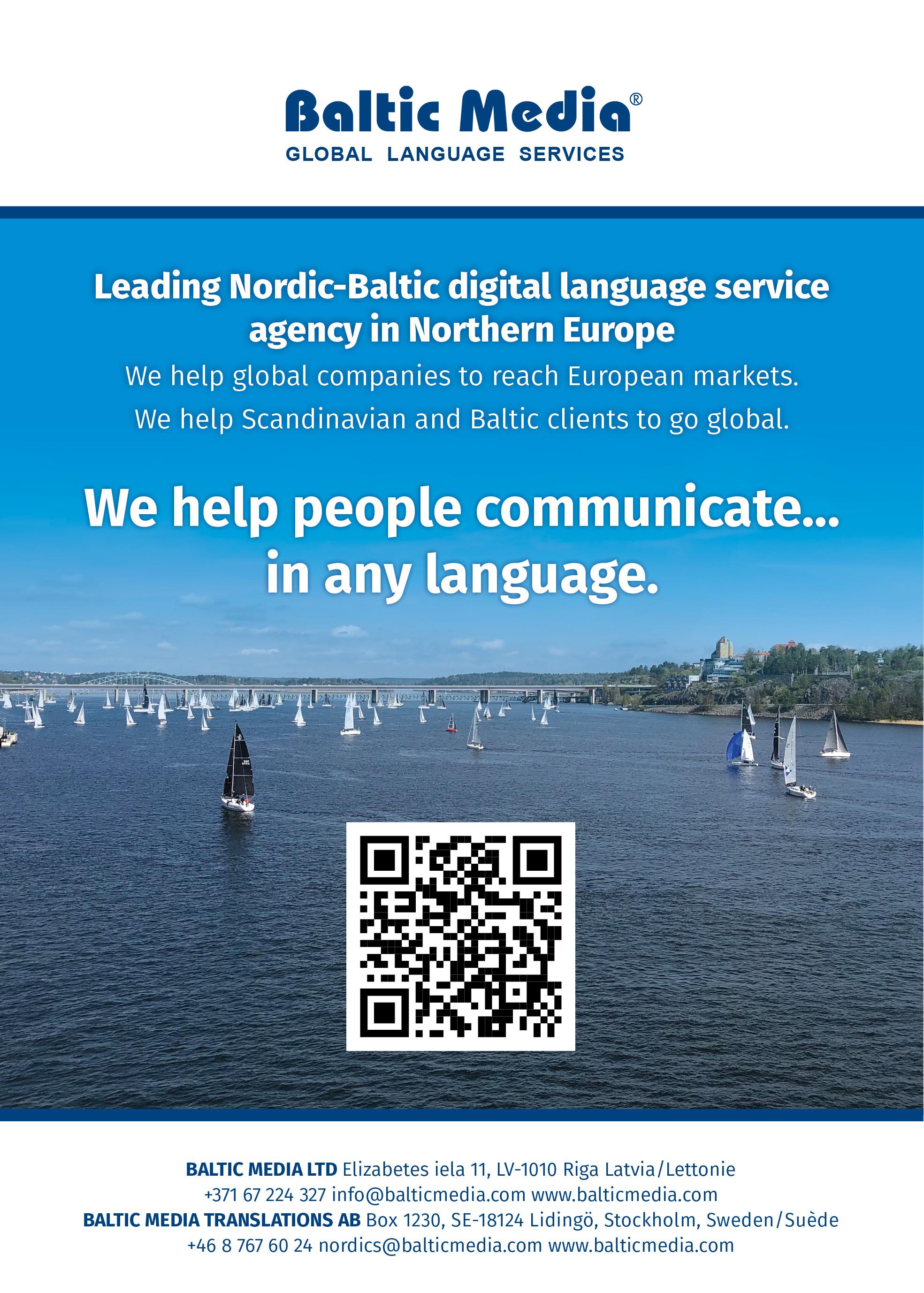 Översättningsbyrå  Baltic Media Translations AB